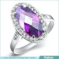 Model RB zircon platinum ring CSY factory oem model