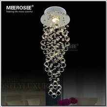 Fashion Selling Circular Staircase crystal Ceiling Lights Modern bedroom K9 crystal lamp Diameter 20cm H62cm MD2593