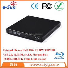 ECD002-BD Laptop Portable USB2.0 External Blu ray DVD CD-RW Burner for uj240