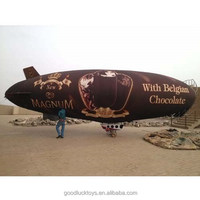 customized giant inflatable chocolate blimp for advertising