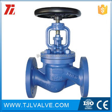 wcb/ss flange type 2015 most competitive electric operated bellows globe valve good quality