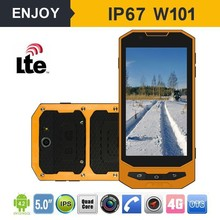 IP68 4g lte android 4.4 5 inch HD screen military rugged waterproof cell phone with 2+8Mega 1+16GB ROM NFC RFID optional
