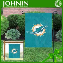 china made OEM service 300D polyester Miami Dolphins custom garden flags