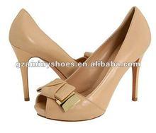 Fabulous women's peep-toe studded high heel pump shoes