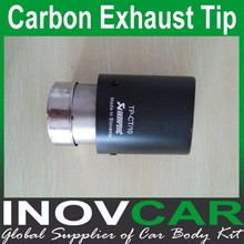 Universal Carbon fiber outside with Stainless steel inside exhaust pipe, carbon exhaust tip