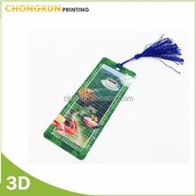 3D effect lenticular 3D bookmark, souvenir bookmark