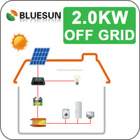 Bluesun best price home use off-grid 2000w solar power system factory manufacture