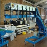 Truck loading unloading belt conveyor