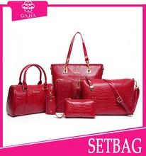 Pure color handbag lady 4 pcs per set bags handbags fashion 2015 designer ladies sling bag