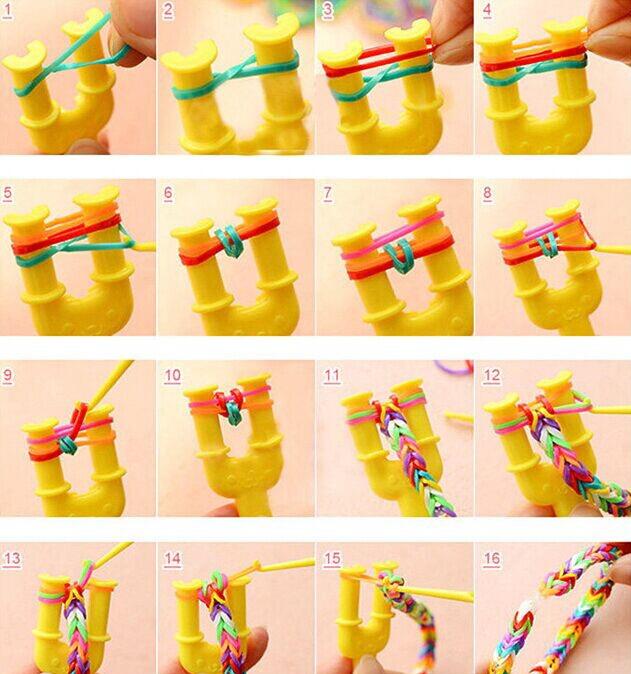 Как сделать браслеты из резинок с рогаткой