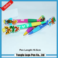 Promotional top quality flower ball pen