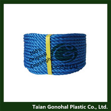 3 strands colored pp monofilament twisted rope
