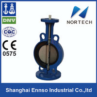 2013 High Quality DN50-DN1200 worm gear actuated butterfly valve