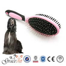 [Grace Pet] Rubber and silica handle double-sided dog grooming brush