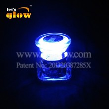 500ml Light Up Glass Stash Jar With Blue Led Lid