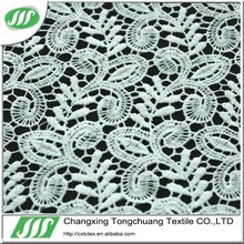 polyester embroidered guipure lace fabric for dress and curtain X02