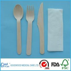 wooden knife fork spoon