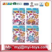 Meiyijia Direct selling plastic diy ironing perler beads intelligence game paper jigsaw puzzle BT-0053B