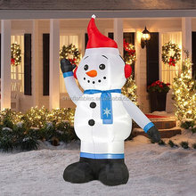 Christmas Decoration Lawn Yard Inflatable Airblown Snowman with Santa Hat 8 Feet Tall