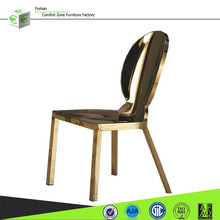 LC09 modern stainless steel legs gold dining chair for wedding