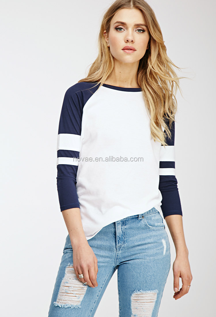 100 cotton sporting women blouse tops tee long sleeve for Women s 100 cotton long sleeve tee shirts