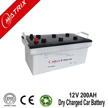 dry charged and mf car battery N200