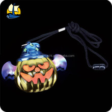 pumpkin led flashing halloween necklace
