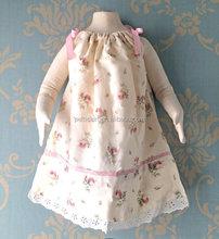 high quality girls dress kids frocks dress pink flower new model girl dress