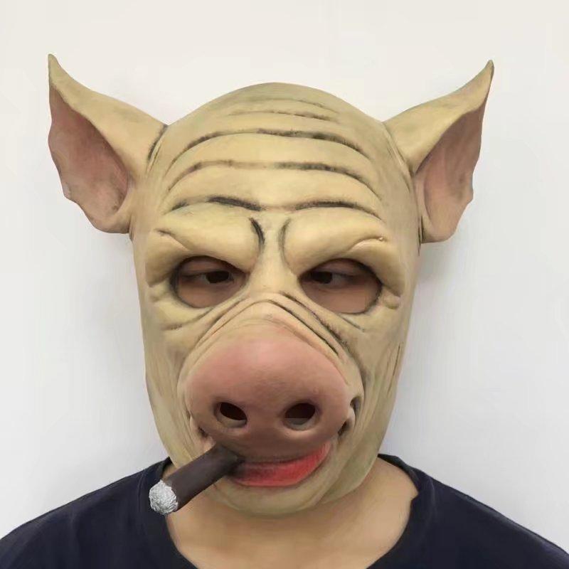 Mejor calidad no tóxico hecho a mano látex máscara asustadiza de Halloween