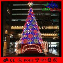 Mall& hotel indoor disegno fiocco di neve gigante albero di natale luci led decorazione