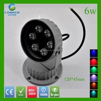 6w die-casting Aluminum Outdoor Garden Bollard Light/Led Lawn Pillar Lamp