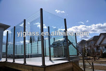 toughened glass for frameless glass pool fence