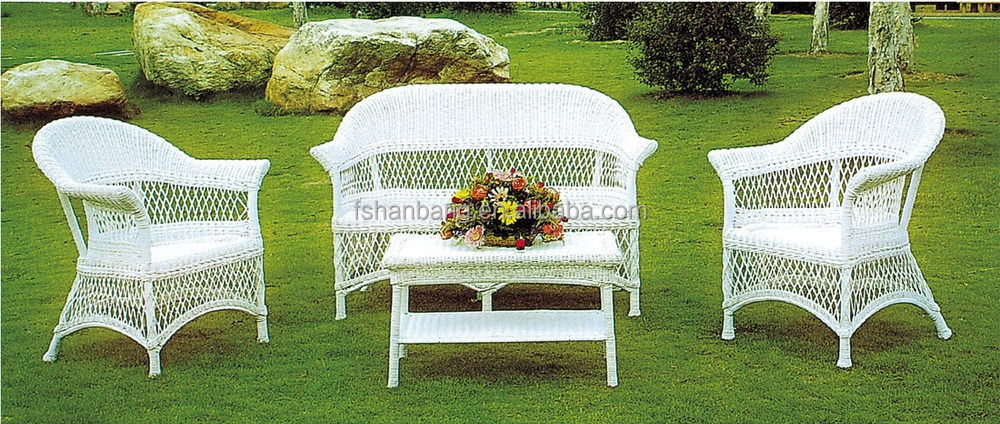 wholesale indoor white wicker rattan furniture