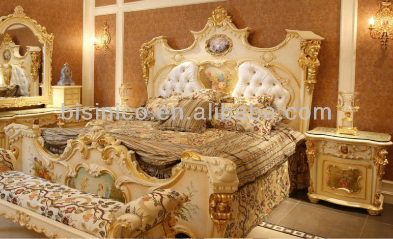 French luxury style marquety bedroom sets bed view - French style bedroom furniture sets ...