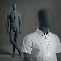 full body egg head male concrete rude raw mannequin