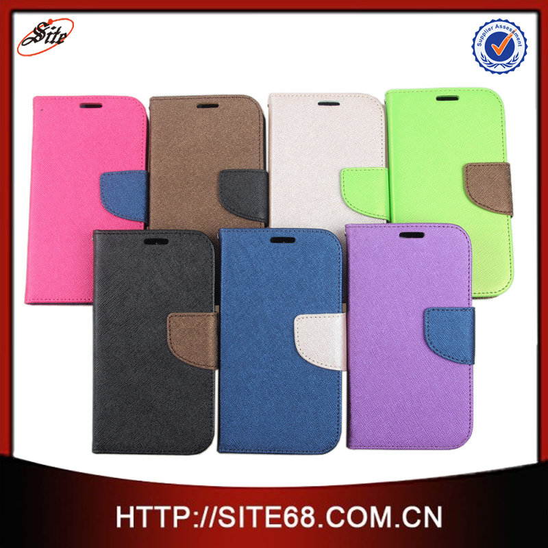"China Flip Cover Cell Phone Leather Case,Custom 5"" inch Leather Case,Hot Mobile Phone Leather Case for Samsung Galaxy S3 i9300"