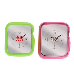 Colorful Soft Protective Scratch-Resistant TPU Cover Frame Case For Apple Watch