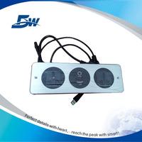 BW-W63 Aluminum Wall Socket 220V/Panel Mounted Media Hub/Hotel Outlet