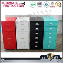 colourful mobile metal cabinets filing storage office furniture with sliding drawer
