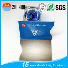 Custom holder envelope rfid blocking card protector for prevent info security