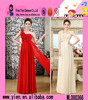 Fashion Elegant Single Shoulder Long Dress Wholesale OEM Cheaper Lace Evening Party Dress For Ladies