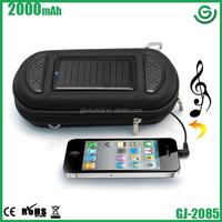 2014 top selling Mini solar speaker bag for iPhone