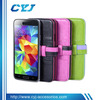 2014 newly candy color wallet Leather shockproof case for samsung galaxy s5