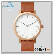 Customed logo Unsex slim stone IP platted stainless steel back watch with great dials