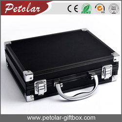 black customized design portable aluminum tool box with lock