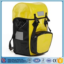Waterproof trekking bag for bicycle motorcycle yellow