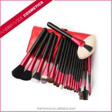 Red makeup brush bag,makeup brush kit,professional cosmetic brush