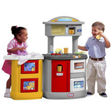 Best selling newest design mini plastic kitchen play toy set, cleaning play set toy