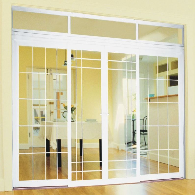 Latest House Upvc Sliding Door Design 3 Track Horizontal