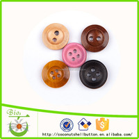 12 mm 4 holes Burlywood round wooden suit buttons for fur coats in garment accessories